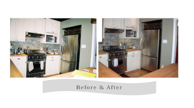 Before & After Kitchen Clutter